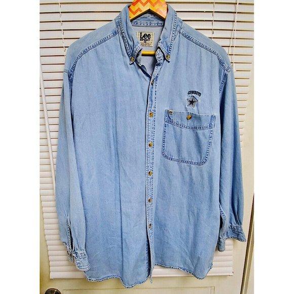 Sport Dallas Cowboys Blue Denim Shirt